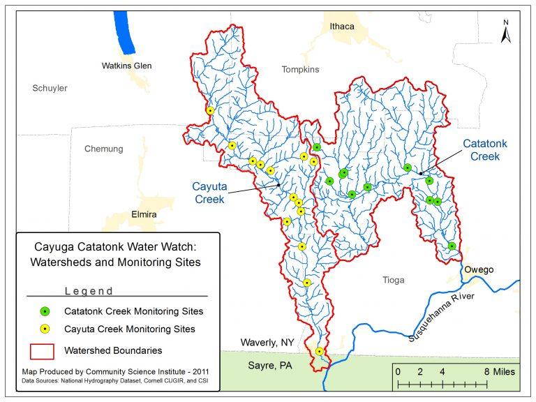 Cayuta Catatonk Monitoring Locations