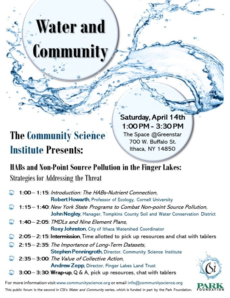 Water and Community - Non-point Source Pollution Event Flyer_FINAL