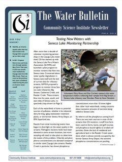 Fall 2014 Water Bulletin