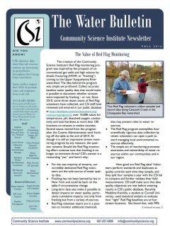 Fall 2016 Water Bulletin