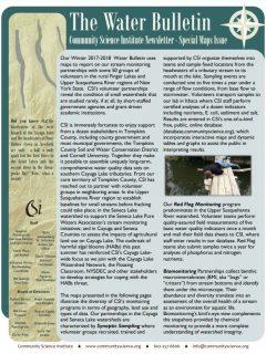 Fall 2017 Water Bulletin Cover