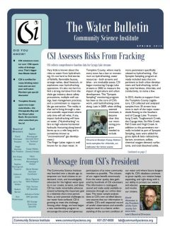 Spring 2013 Water Bulletin Cover