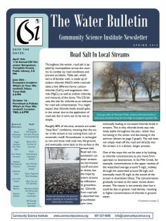Spring 2015 Water Bulletin Cover